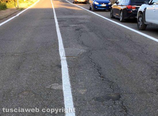 Viterbo - La strada in via della Pila