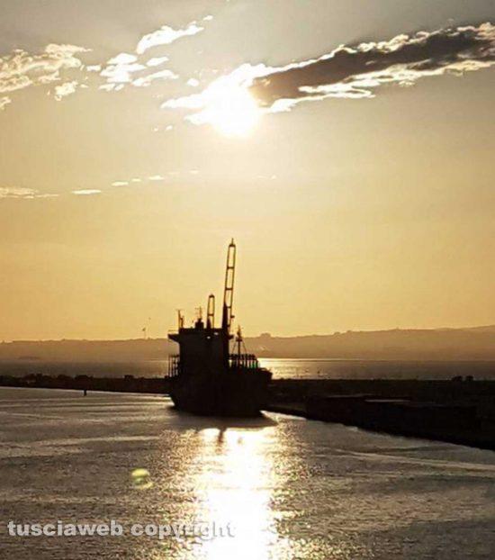 Il tramonto dal porto di Tunisi