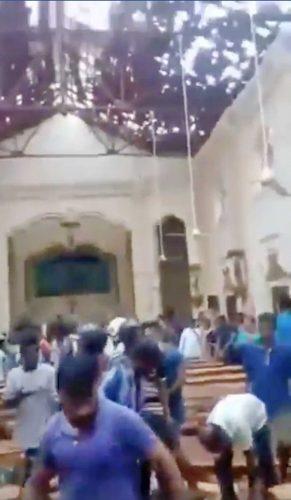 Sri Lanka - L'esplosione in una chiesa