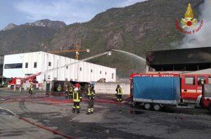 Bergamo - L'intervento dei vigili del fuoco