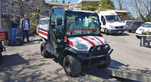 Bagnoregio - Il quad della Croce rossa per Civita