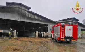 Modena - L'intervento dei vigili del fuoco