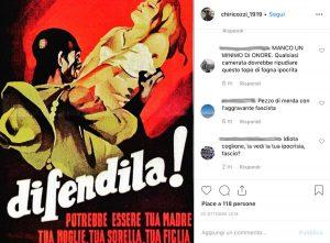 Francesco Chiricozzi - Il post su Instagram