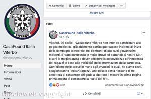 Casapound diventa garantista e su Facebook difende ad oltranza Francesco Chiricozzi e Riccardo Licci accusati di stupro