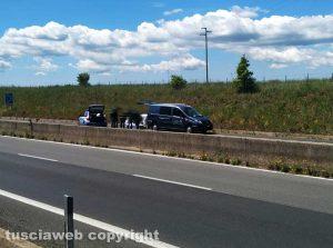 Viterbo - L'incidente sulla Supestrada