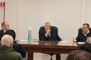 Enrico Panunzi all'incontro in Confagricoltura