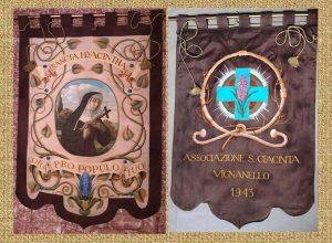 Il Gonfalone della confraternita dei Sacconi e delle Dame di santa Giacinta Marescotti