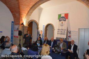 Tarquinia - FdI - Un momento dell'incontro con Crosetto