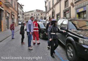 Lo schianto dell'Audi sfrenata in via Cavour