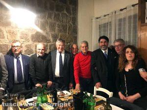 Viterbo - Il presidente della Regione Sardegna a cena al Labirinto