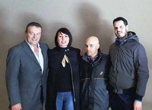 Gianni Moscherini con i membri della lista Il cantiere della nuova politica