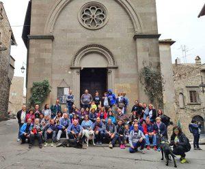Il gruppo di camperisti in visita a Viterbo