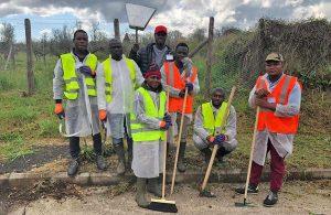 Vetralla - I lavori socialmente utili - La pulizia della Via Francigena