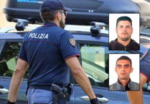 Polizia - Nei riquadri, dall'alto: Arben Ibrahimi e Vasvi Beluli