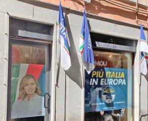 La sede di Fratelli d'Italia a Viterbo