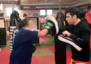 Un'incontro di boxe a uso terapeutico