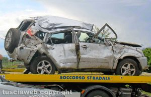 Civita Castellana - Incidente mortale in strada Falerina