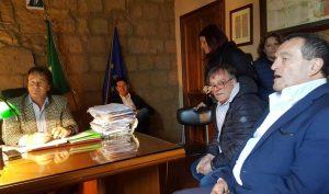 Bagnoregio - Moscherini in visita da Bigiotti e Profili