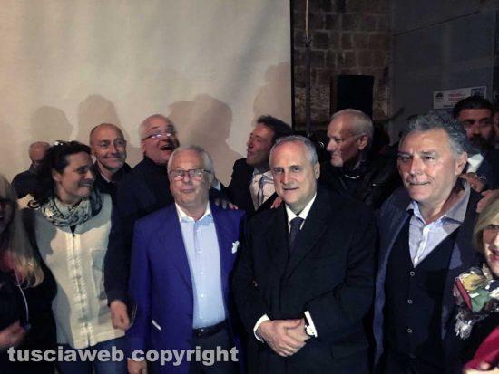 Il presidente della società sportiva Lazio, Claudio Lotito con Regino Brachetti