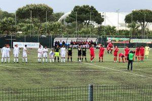 Sport - Calcio - Monterosi - I biancorossi in campo all'Anco Marzio