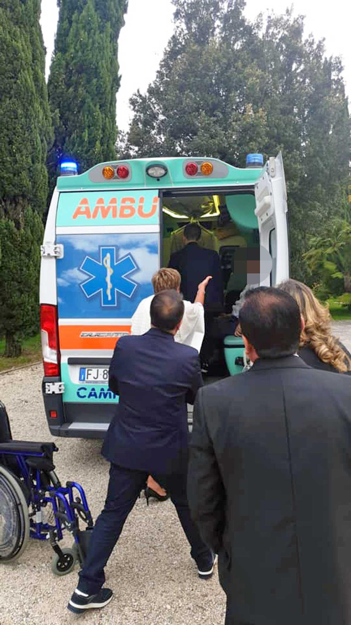 Matrimoni Bassano Romano : Malato di sla realizza il suo sogno in ambulanza fino a bassano