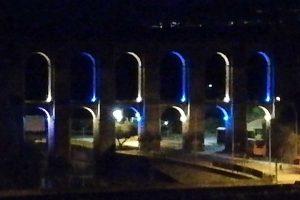Nepi - L'acquedotto illuminato di biancoceleste
