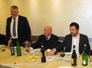Viterbo - Cena di partito col segretario Lega Salvini e il prefetto Giovanni Bruno