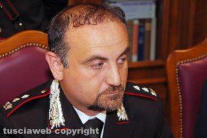 Viterbo - Il comandante del nucleo operativo Guglielmo Trombetta