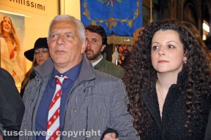 Viterbo - Massimo Mecarini e Chiara Frontini
