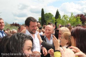 Matteo Salvini a Civita Castellana