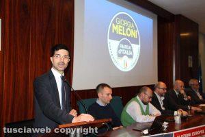 Daniele Sabatini all'incontro FdI