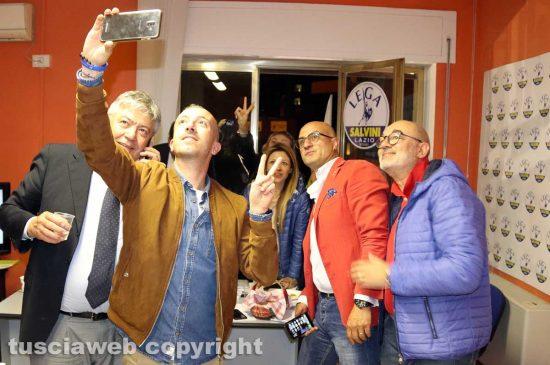 Viterbo - La Lega festeggia il risultato alle europee