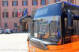 Un autobus della Francigena
