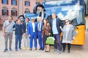 Viterbo - La presentazione dei nuovi autobus della Francigena