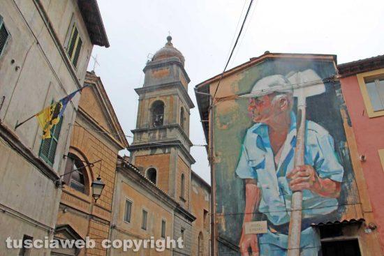 Acquapendente - Il murales con il contadino