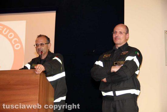 Vigili del fuoco - L'ex comandante Emanuele Pianese e il nuovo Davide Pozzi