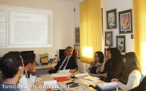 Viterbo - Francesco Battistoni alla Tusciaweb academy