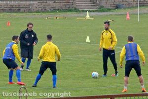 Sport - Calcio - Viterbese - Il primo allenamento di Pino Rigoli