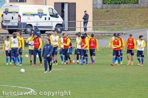Sport - Calcio - Viterbese - L'allenamento di ieri - La squadra