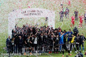 Sport - Calcio - Viterbese -L'esultanza dei gialloblù