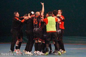 Sport - Calcio a cinque - Active network - L'esultanza dei viterbesi