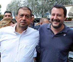 Tarquinia - Alessandro Giulivi con Matteo Salvini
