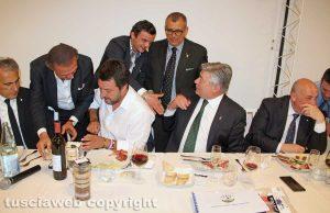 Civita Castellana - Il prefetto Giovanni Bruno con Matteo Salvini
