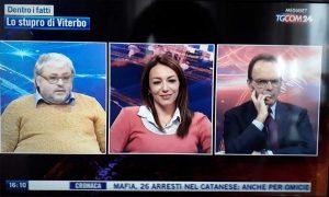 Carlo Galeotti ospite al Tgcom con Stefano Parisi e Carlotta Chiaraluce (CasaPound)