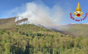Varese - L'intervento dei vigili del fuoco