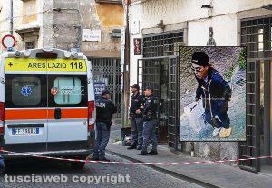 Omicidio in via San Luca - Nel riquadro: Il ragazzo immortalato dalle telecamere