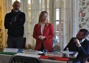 Giorgia Meloni con Sergio Pirozzi