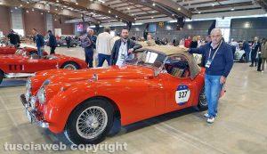 Viterbo - Mille Miglia - La Jaguar XK120 SE di Massimo Saggini e Domenico Struzzi
