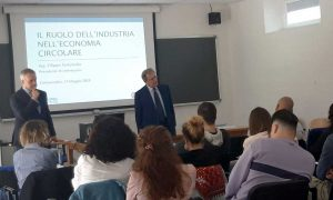 La lezione del presidente Filippo Tortoriello col professor Enrico Maria Mosconi