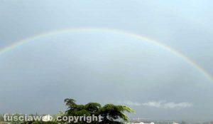 Fine settimana con arcobaleno in città
